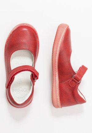 Ankle strap ballet pumps - rosso
