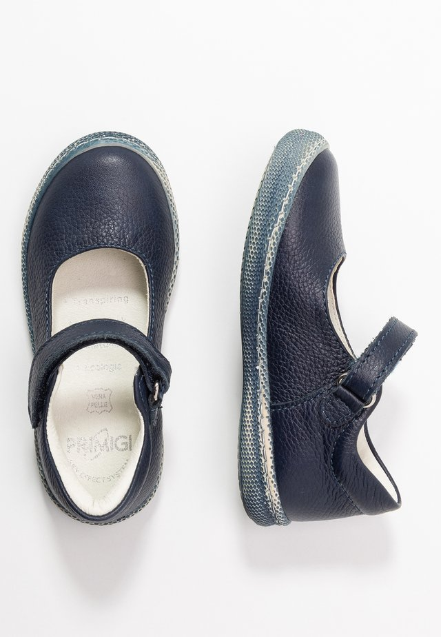 Ankle strap ballet pumps - blue scuro