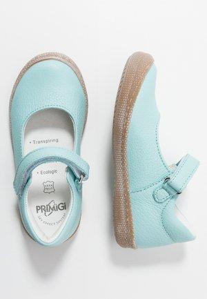 Ankle strap ballet pumps - marine