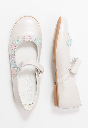 Ballerina's met enkelbandjes - avorio