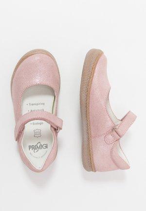 Ankle strap ballet pumps - chiffon
