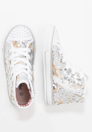High-top trainers - argento/oro
