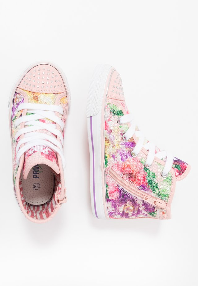 High-top trainers - rosa/multicolor
