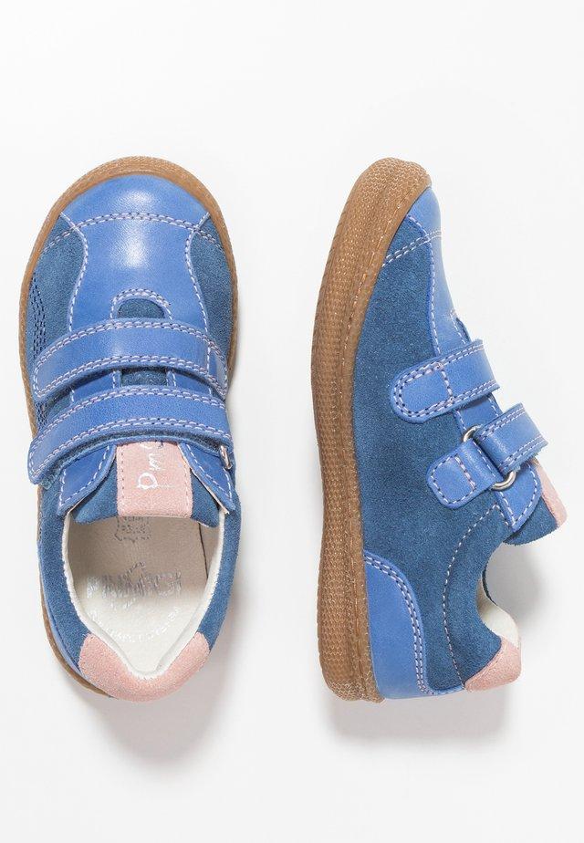 Sko med burretape - cobalto/bluette