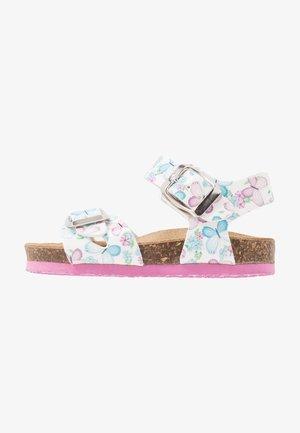 Sandaalit nilkkaremmillä - bianco/lilla/cielo