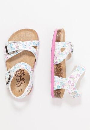 Sandals - bianco/lilla/cielo