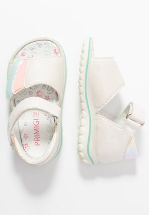 Baby shoes - perlato/orange