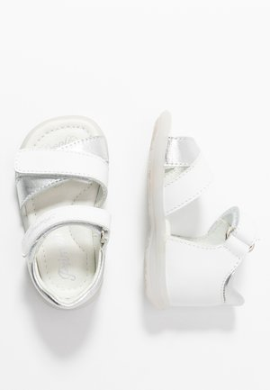Baby shoes - bianco/argento