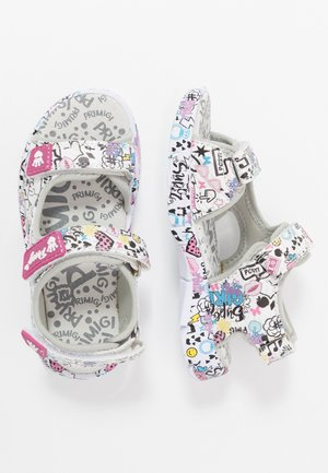 Walking sandals - bianco/multicolor