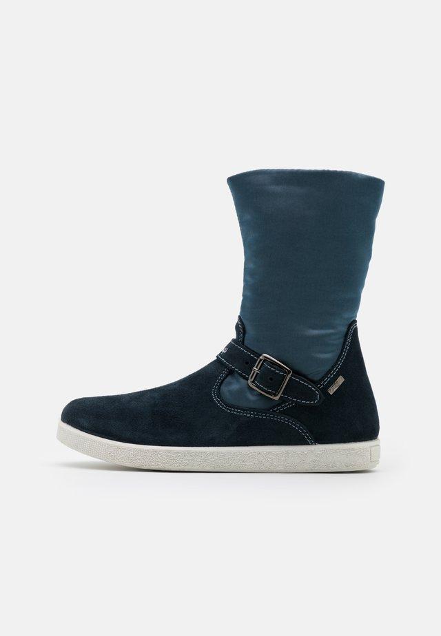 Stiefelette - navy/jeans