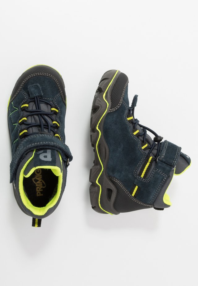 Lace-up ankle boots - navy/nero/grigio