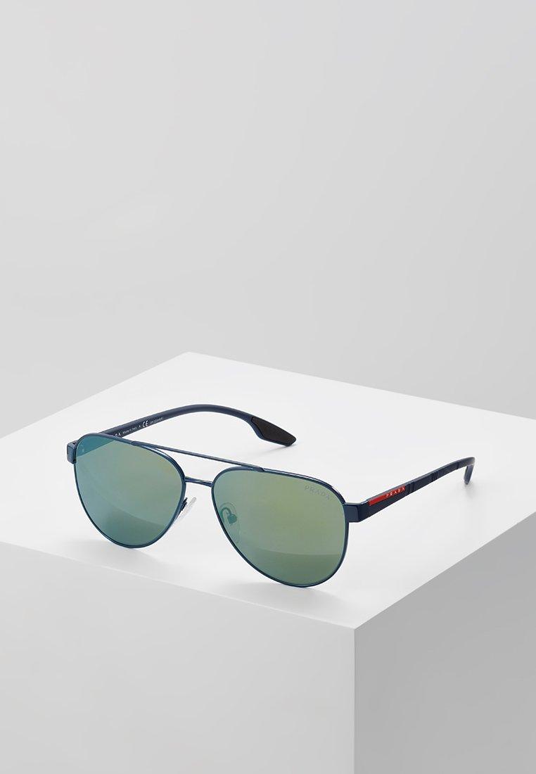 Prada Linea Rossa - Sluneční brýle - blue/green mirror