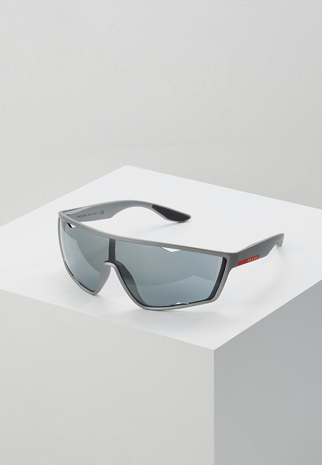 Sunglasses - dark grey metallized rubber