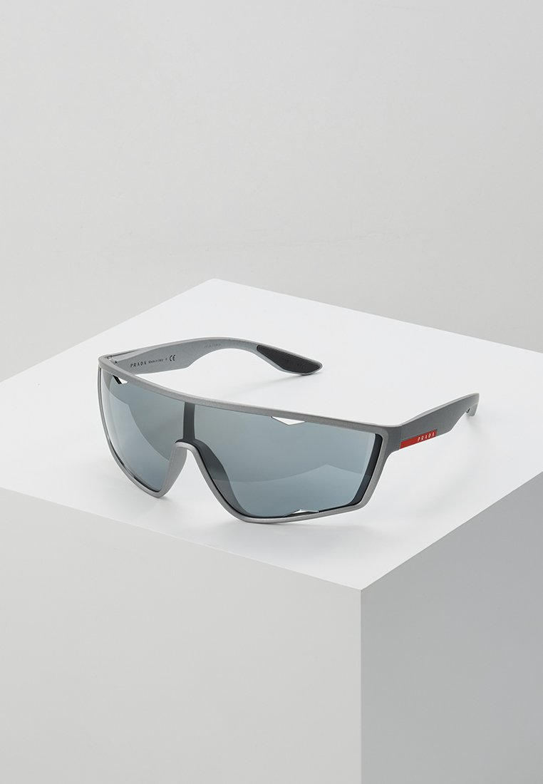 Prada Linea Rossa - Sunglasses - dark grey metallized rubber