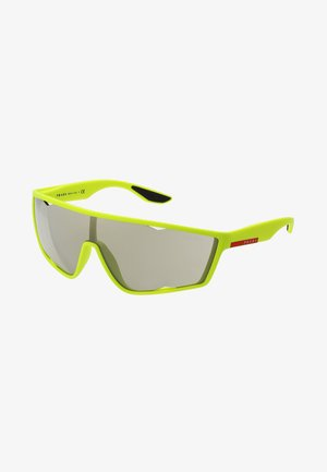 Solbriller - fluo yellow rubber