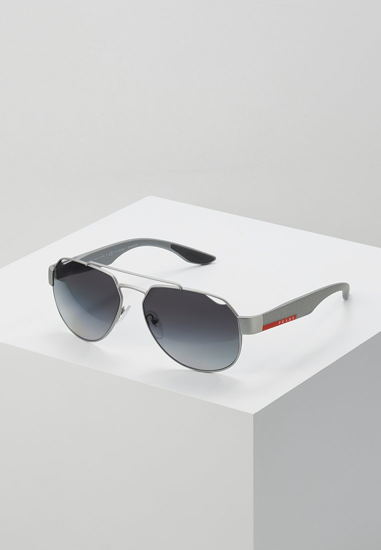 Prada Linea Rossa - Sunglasses - dark grey metal rubber