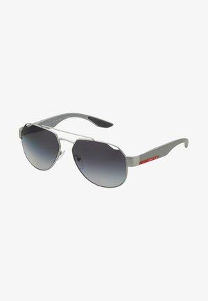 Aurinkolasit - dark grey metal rubber