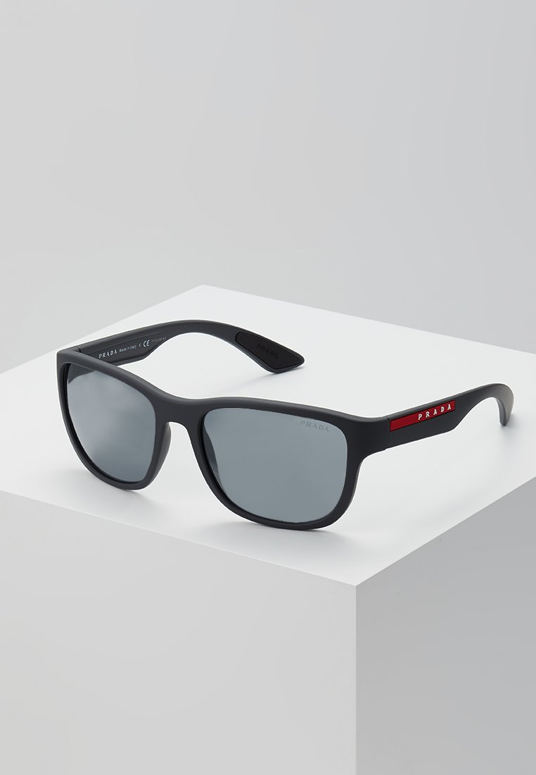 Prada Linea Rossa - Sluneční brýle - matte black/grey mirror black