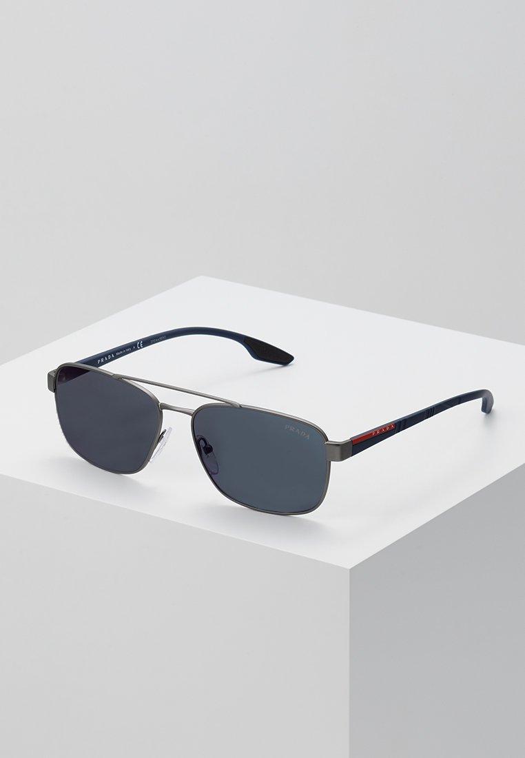 Prada Linea Rossa - Okulary przeciwsłoneczne - gunmetal rubber/dark grey external