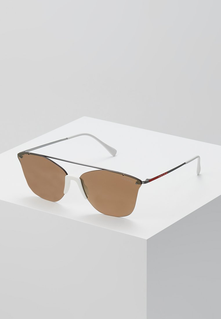 Prada Linea Rossa - Solbriller - gunmetal/dark brown mirror/gold