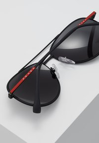 Prada Linea Rossa - Okulary przeciwsłoneczne - matte black/grey - 4