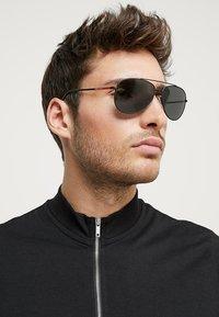 Prada Linea Rossa - Okulary przeciwsłoneczne - matte black/grey - 1