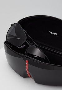 Prada Linea Rossa - Okulary przeciwsłoneczne - matte black/grey - 2