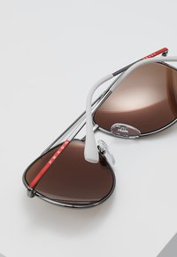 Prada Linea Rossa - Solbriller - matte black/dark brown - 4