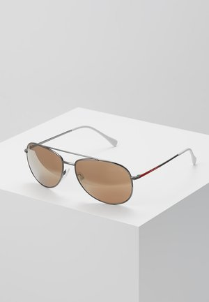 Sunglasses - matte black/dark brown