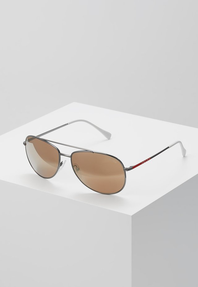 Sunglasses - matte black/dark brown