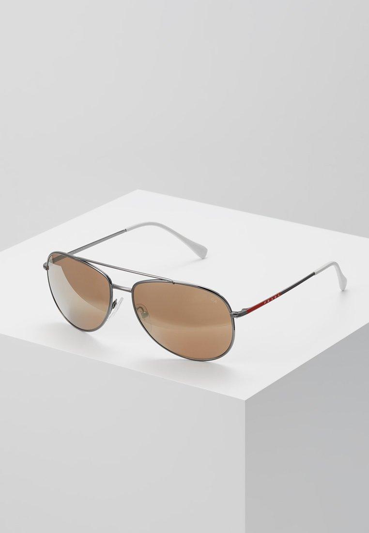 Prada Linea Rossa - Sunglasses - matte black/dark brown