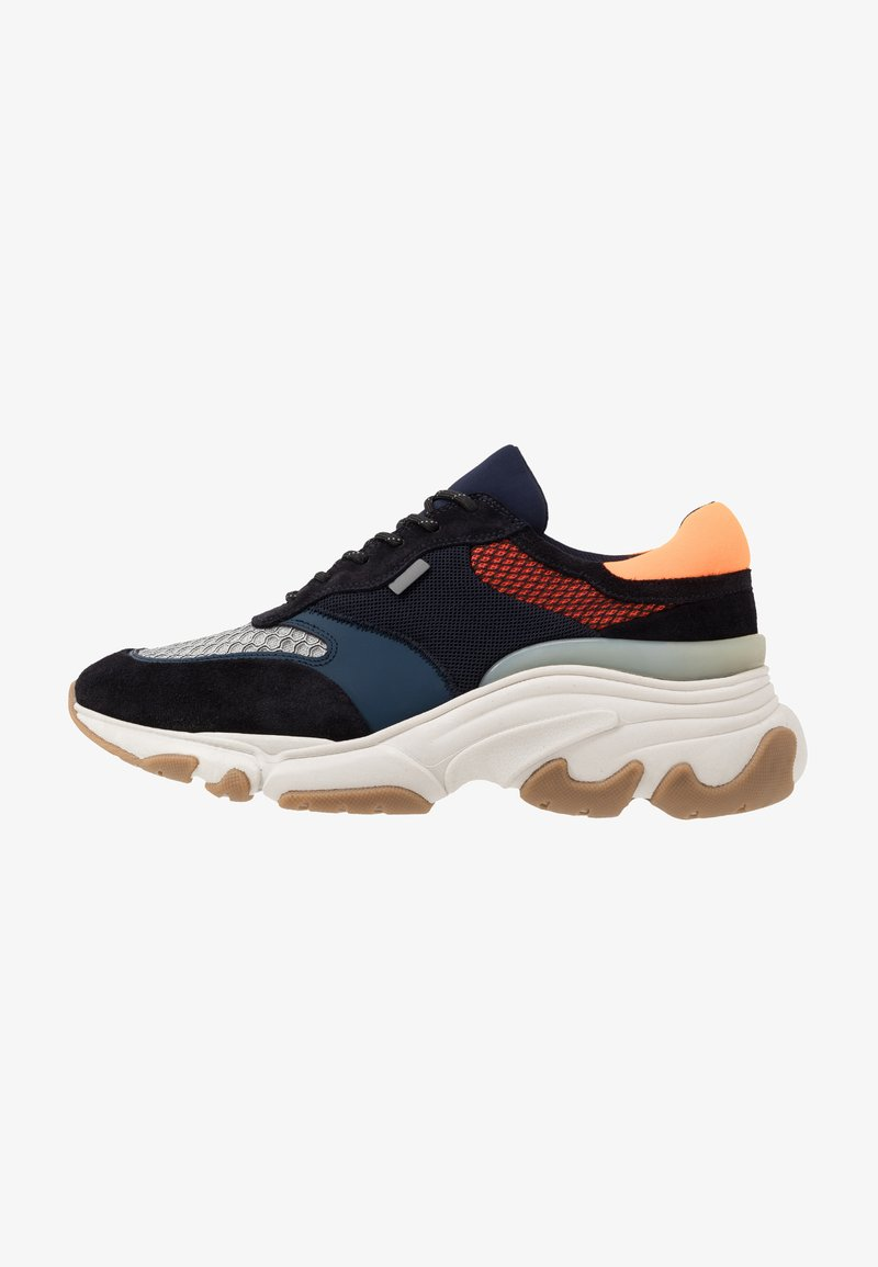 Pregis - KAYO - Baskets basses - navy/orange/multicolor