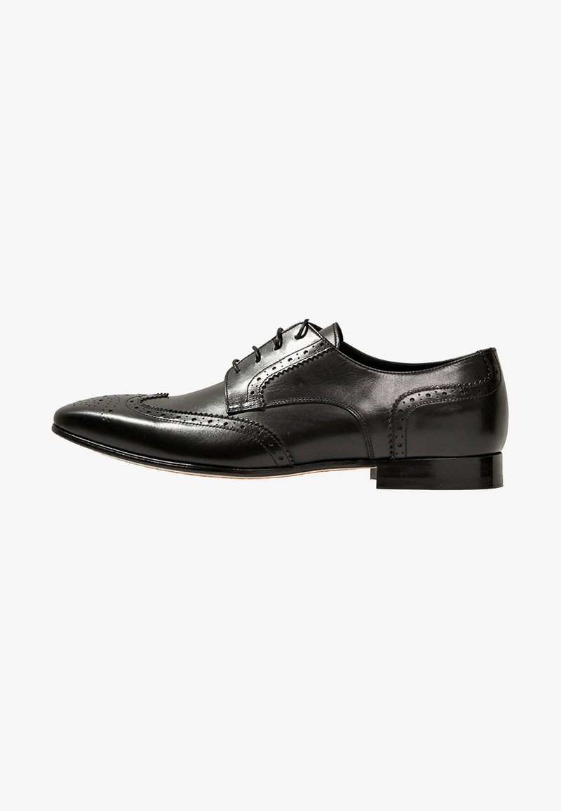 Primosole - CITY BROGUE WINGCAP DERBY - Smart lace-ups - black