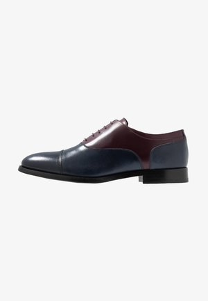 KING ELASTIC TOECAP OXFORD - Nauhakengät - navy/bordo