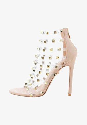 ORCAZZO - High heeled sandals - beige