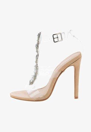 ZAULE - Sandały na obcasie - beige