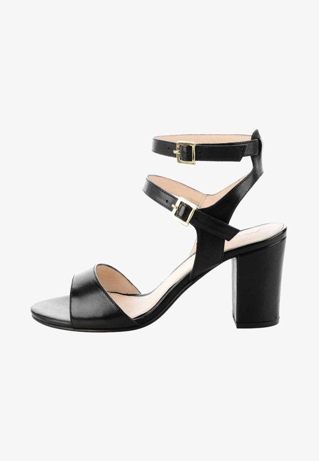 DELIA - Ankle cuff sandals - black