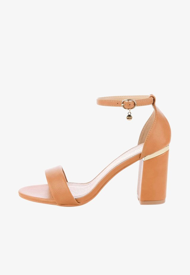 ACCADIA - High heeled sandals - brown