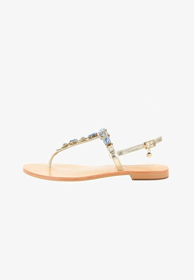 OLDA - T-bar sandals - platin blue