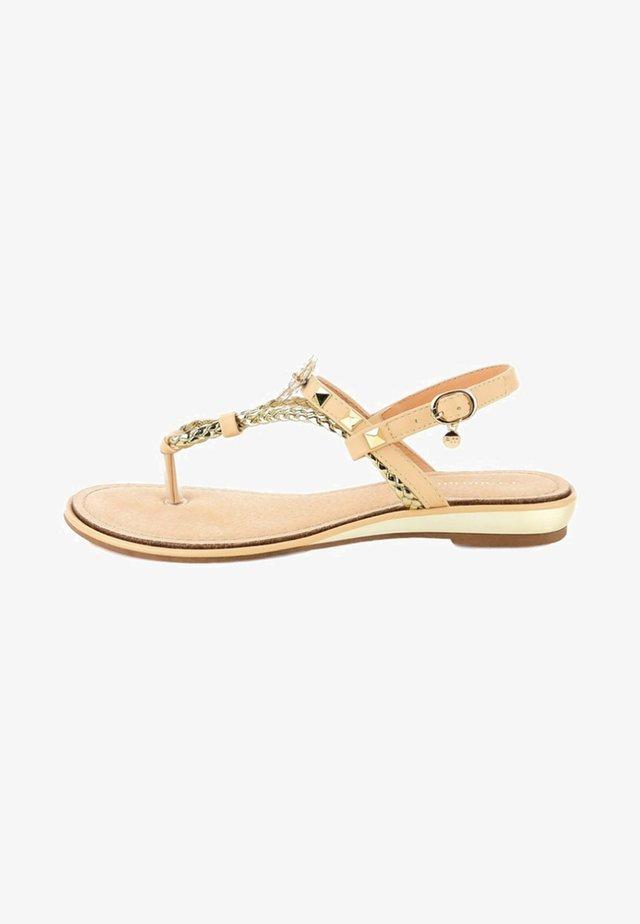BACOLI - T-bar sandals - beige
