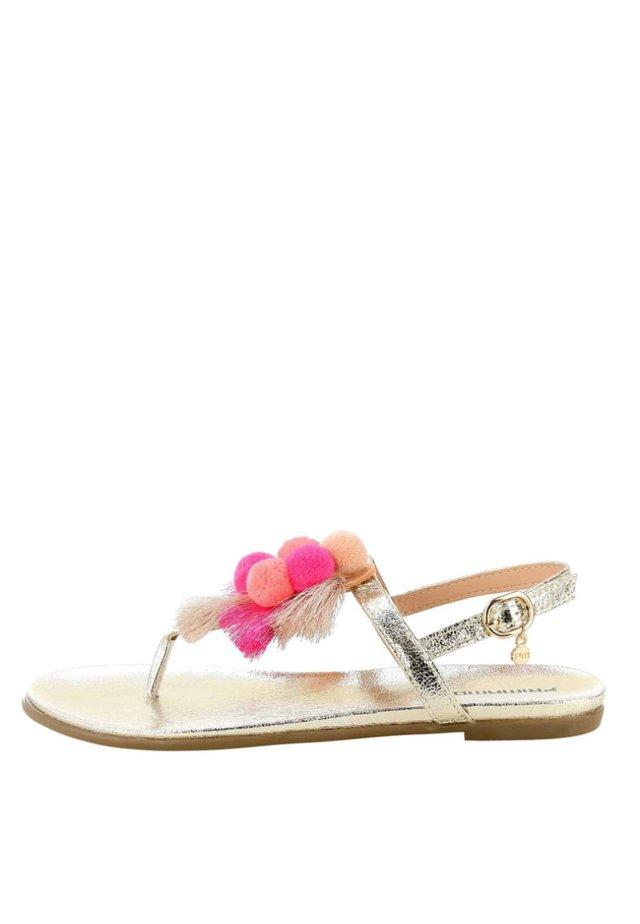 NOCIGLIA - T-bar sandals - gold-coloured