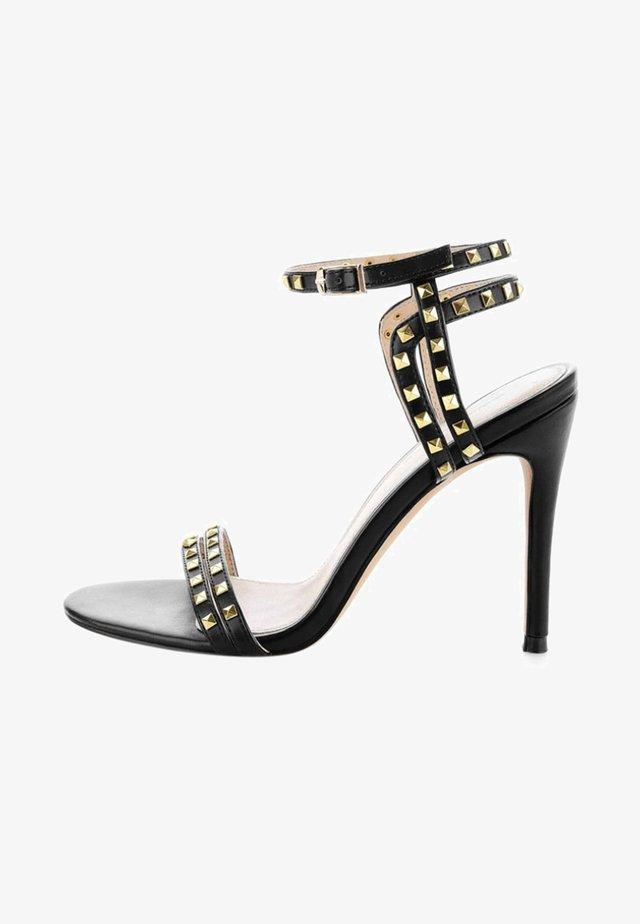 OLBA - Korolliset sandaalit - black