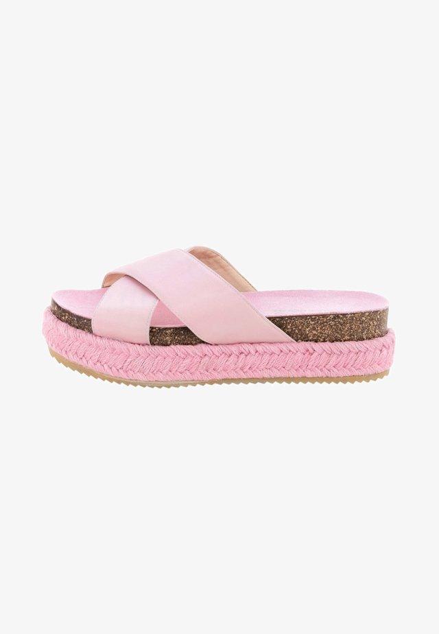 PALMIRRA - Korkeakorkoiset sandaalit - pink