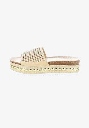 OSSOPO - Platform sandals - cognac