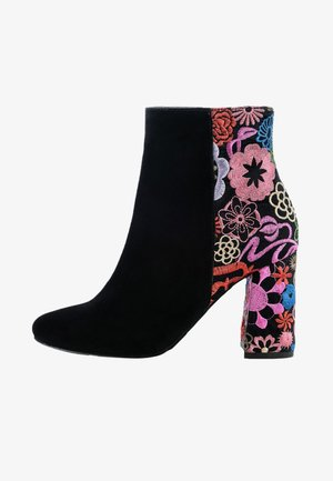 PRIOCCA - High heeled ankle boots - black