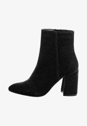 NOVARA - High heeled ankle boots - metallic black