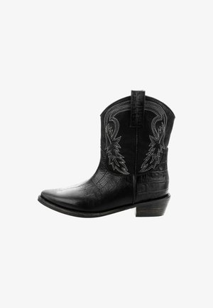 SACROFANO - Cowboy/biker ankle boot - black