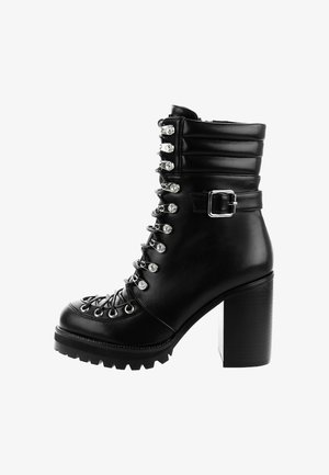 SAFFORZE - High heeled ankle boots - black
