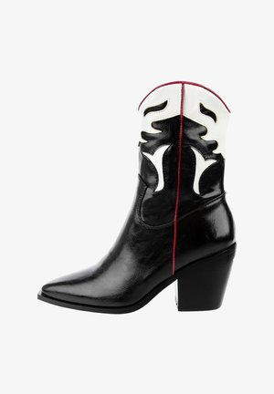 LAMEZIA - High heeled ankle boots - black