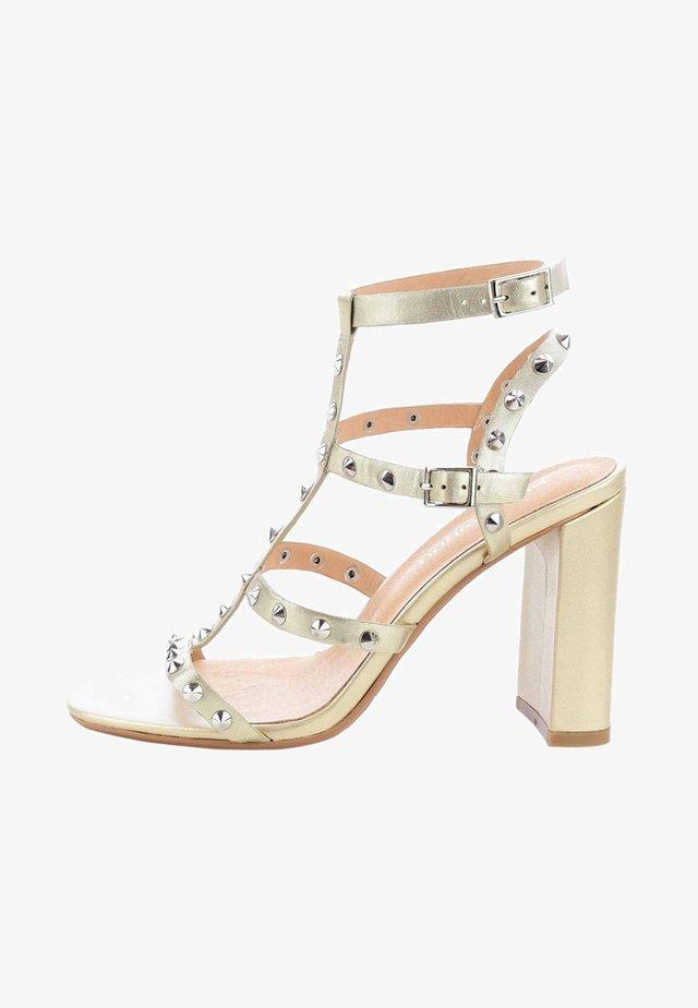 VELVA  - High heeled sandals - gold